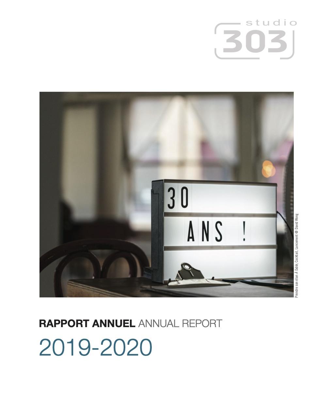 Rapport annuel 2020 Studio 303